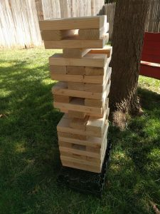Giant Jenga! See how tall you can make it! $60